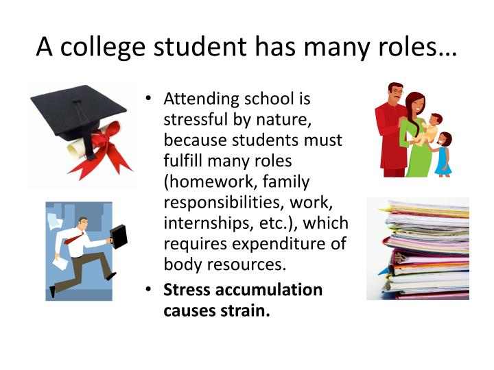 A college student has many roles…