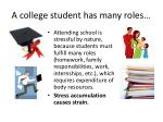 a college student has many roles