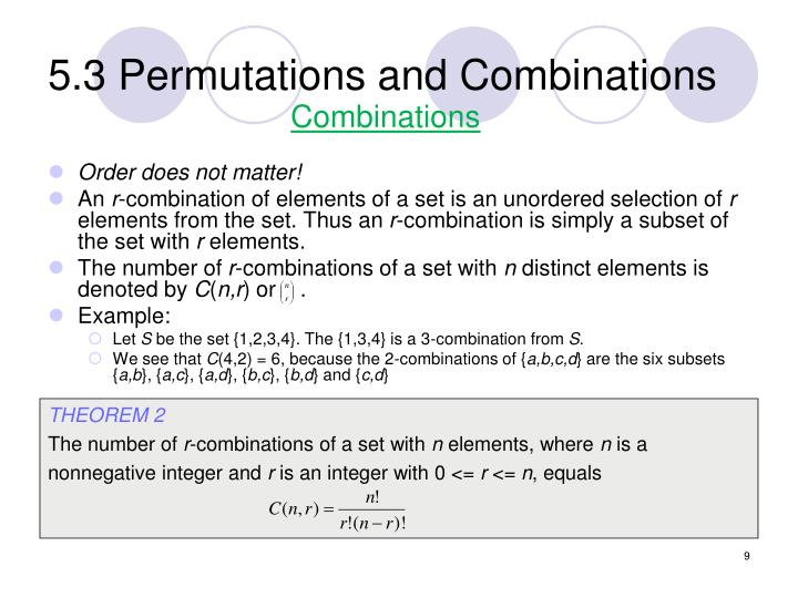 5.3 Permutations and Combinations