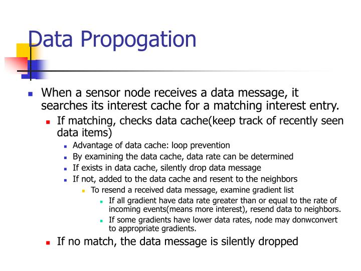 Data Propogation