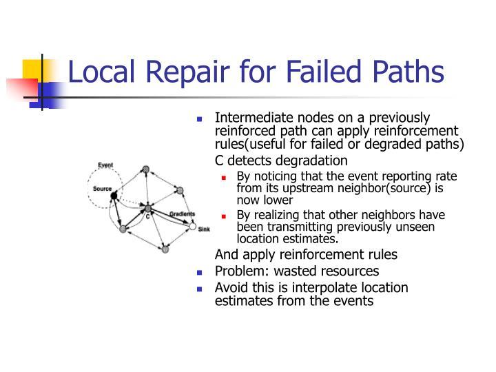Local Repair for Failed Paths
