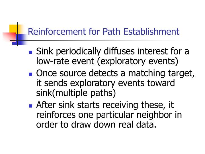 Reinforcement for Path Establishment