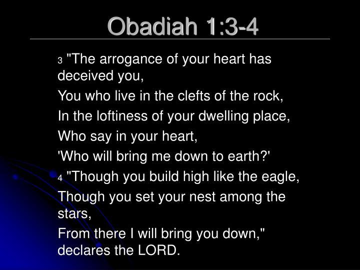 Obadiah 1:3-4