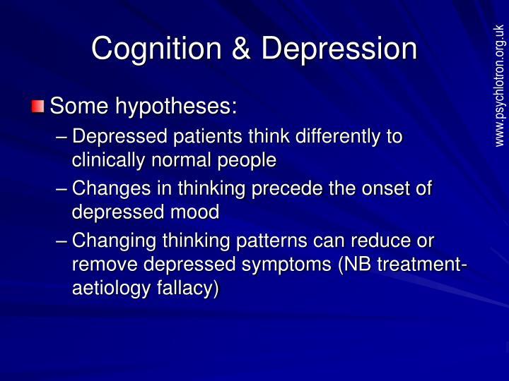 Cognition & Depression