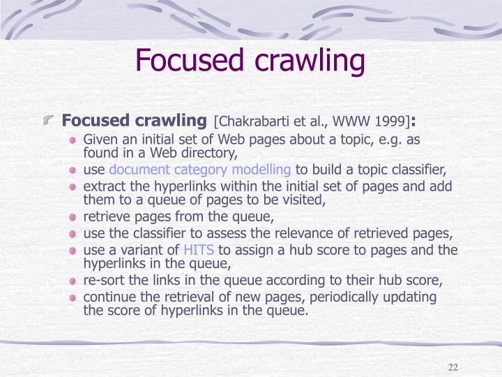Focused crawling