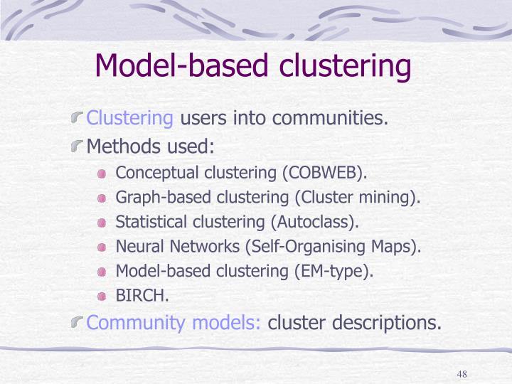 Model-based clustering
