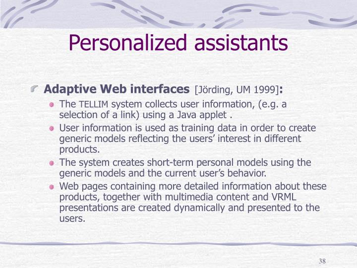 Personalized assistants