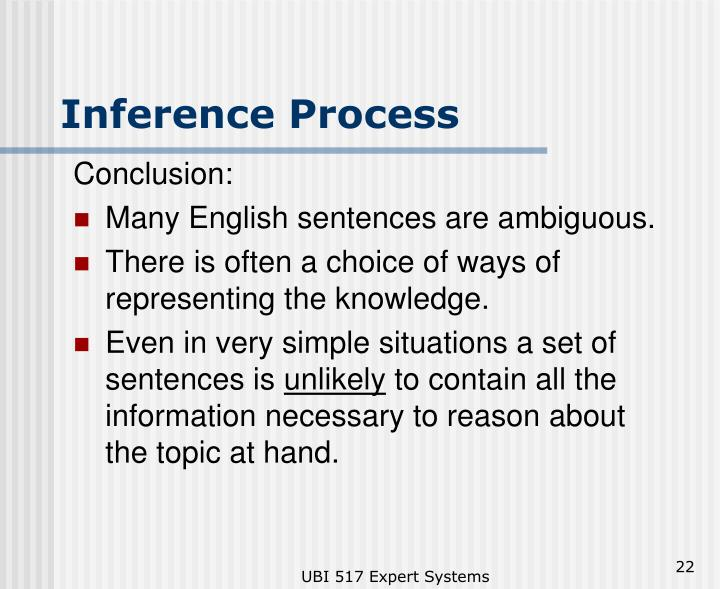 Inference Process