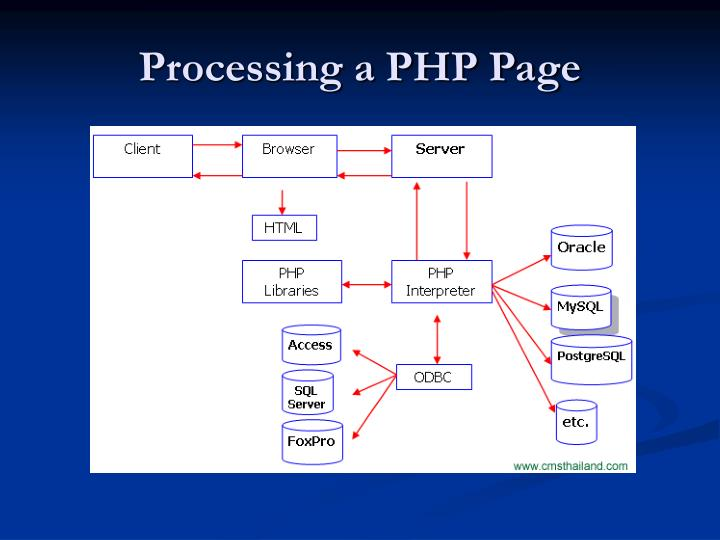 Processing a PHP Page