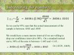 substituting the numbers