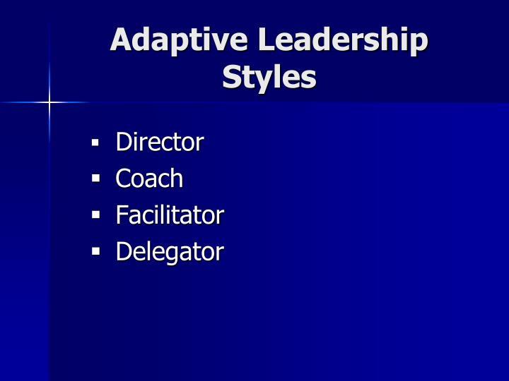 Adaptive Leadership Styles