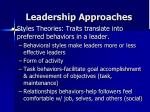 leadership approaches1