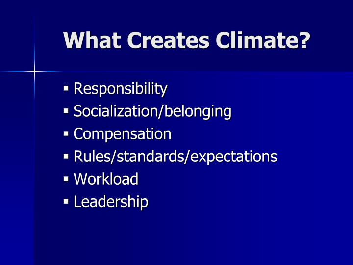 What Creates Climate?