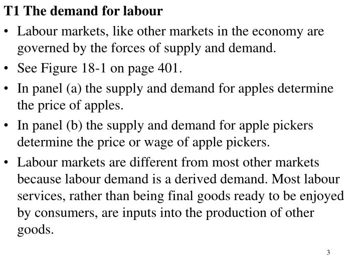 T1 The demand for labour