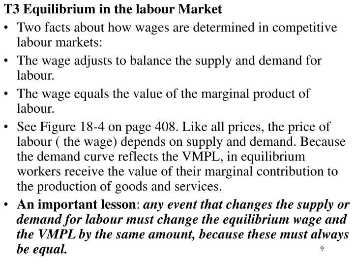 T3 Equilibrium in the labour Market