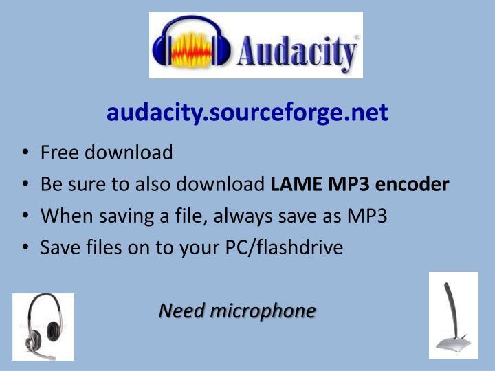 audacity.sourceforge.net