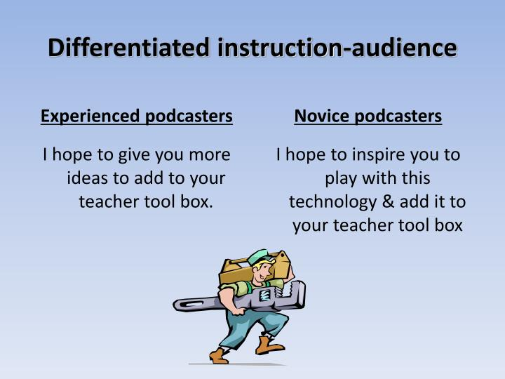 Differentiated instruction-audience