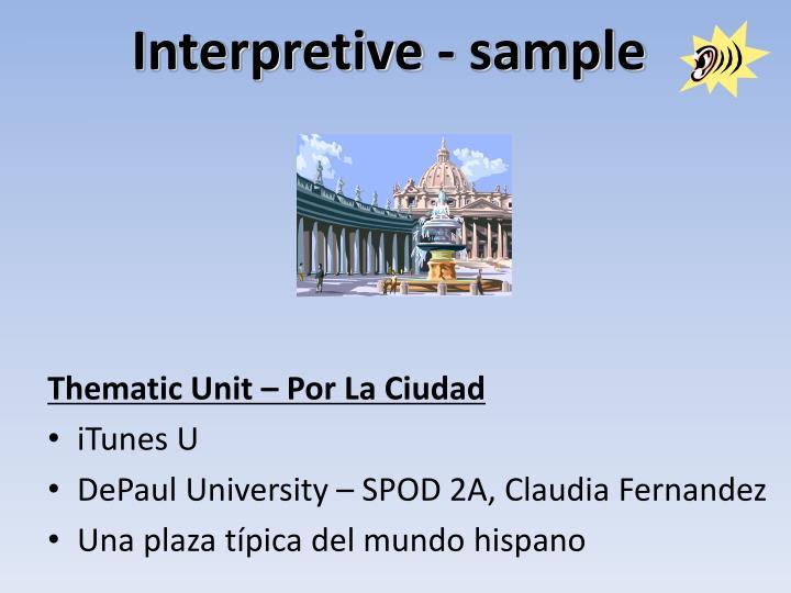 Interpretive - sample