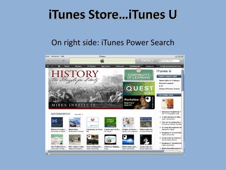iTunes Store…iTunes U