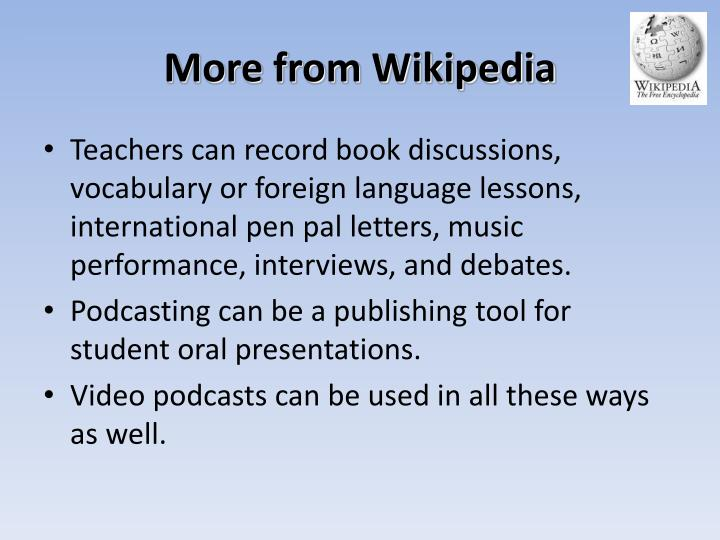 More from Wikipedia