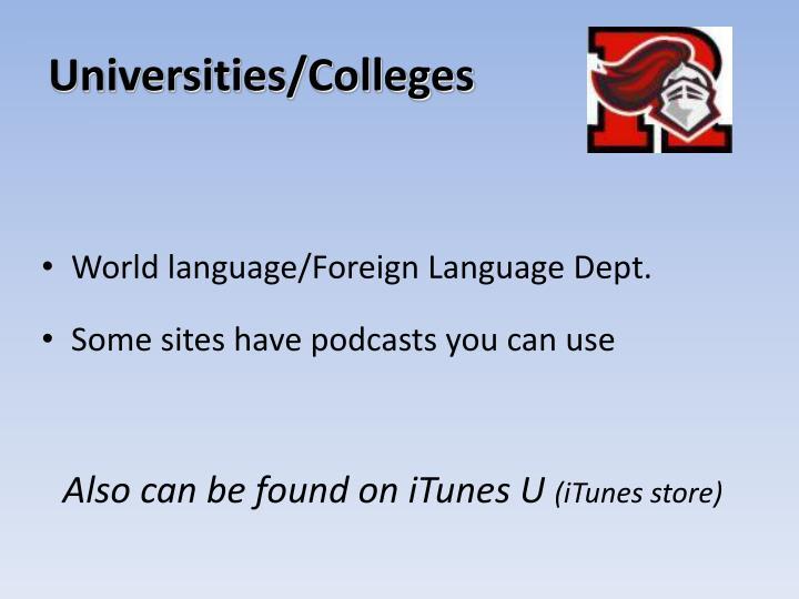 Universities/Colleges