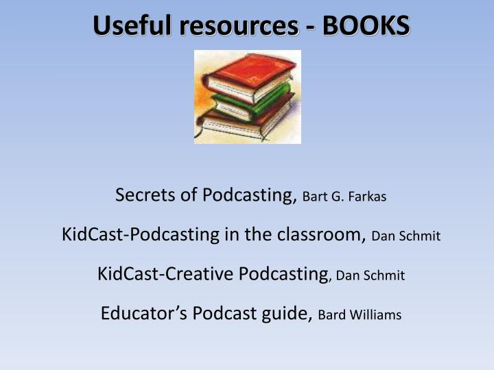 Useful resources - BOOKS
