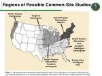 regions of possible common site studies