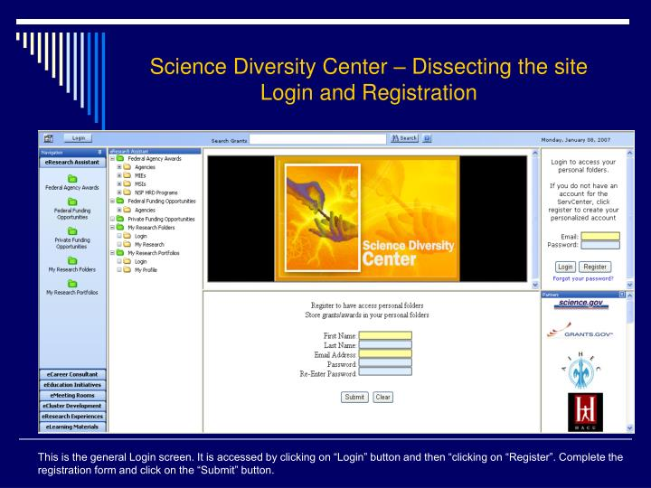 Science Diversity Center – Dissecting the site
