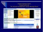 science diversity center dissecting the site the ecluster development screen message board