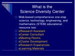 what is the science diversity center