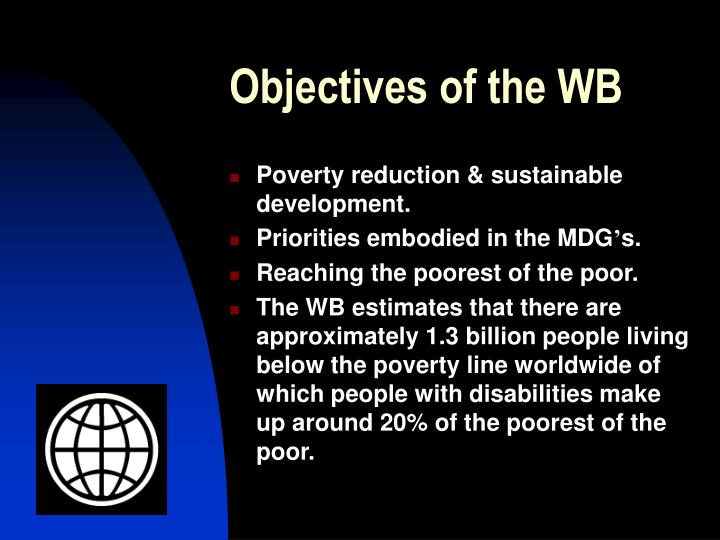 Objectives of the wb