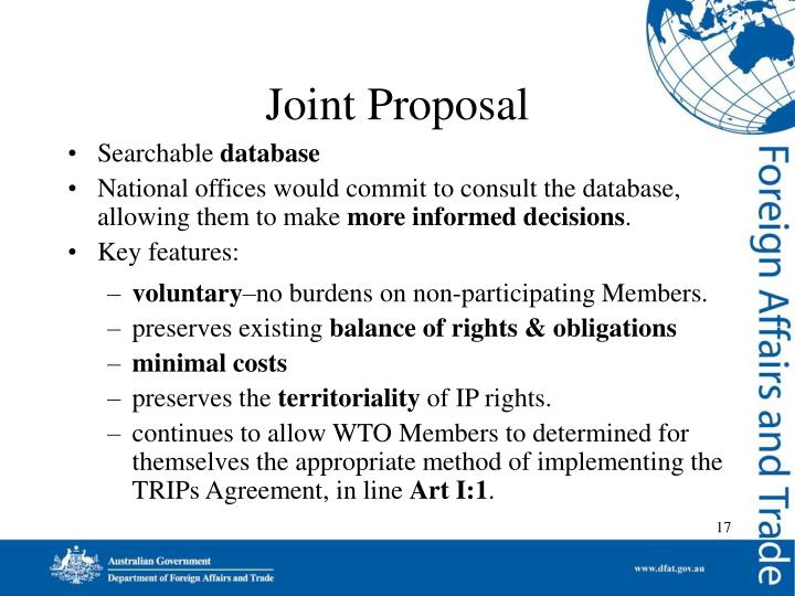 Joint Proposal