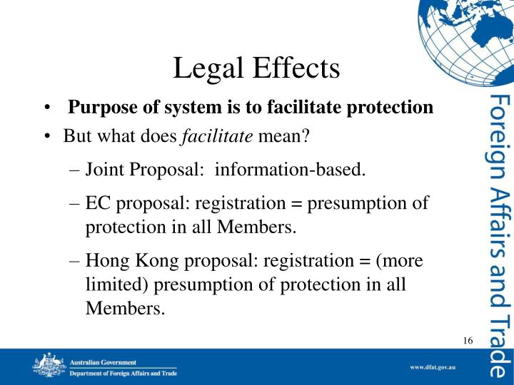 Legal Effects