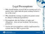 legal presumptions