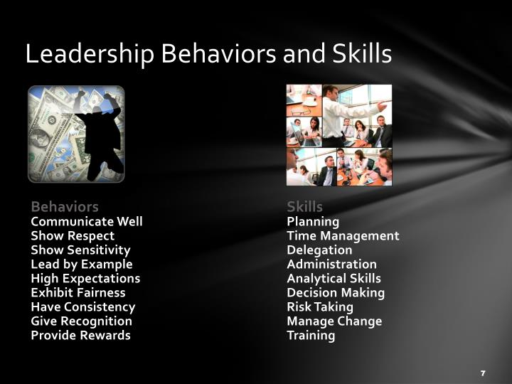 Leadership Behaviors and Skills