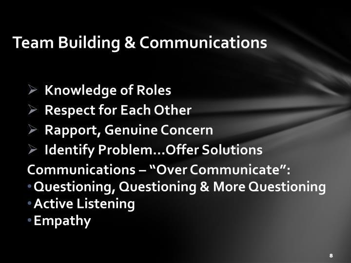 Team Building & Communications