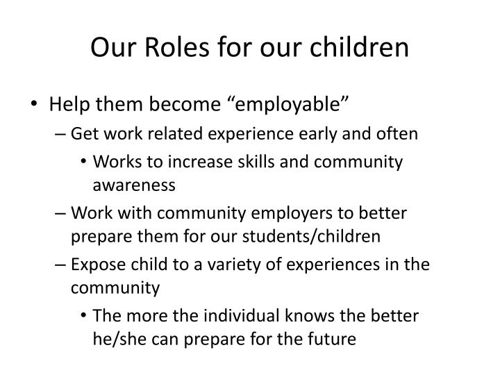 Our Roles for our children