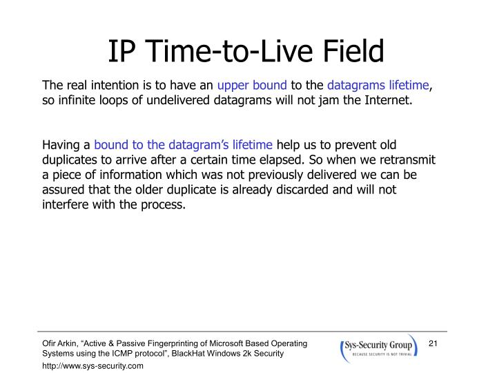 IP Time-to-Live Field
