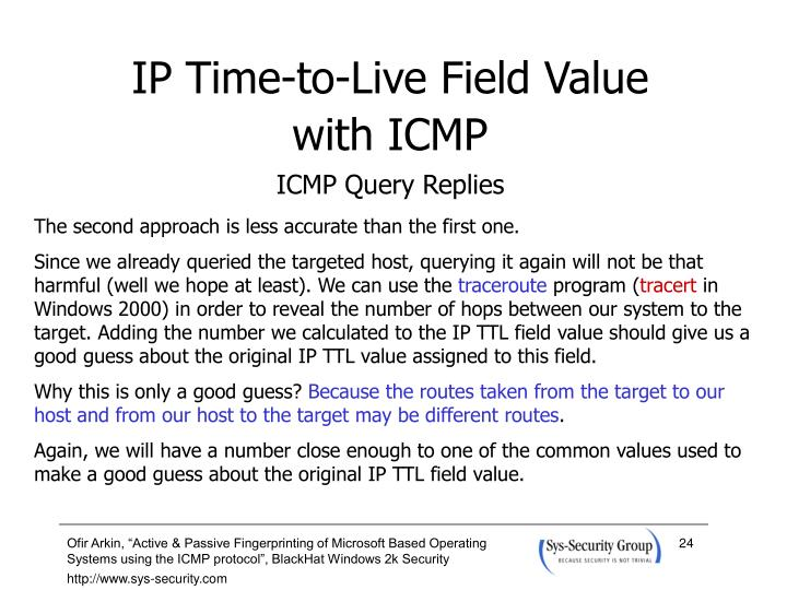 IP Time-to-Live Field Value