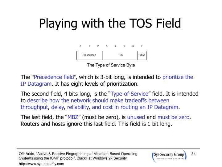 Playing with the TOS Field