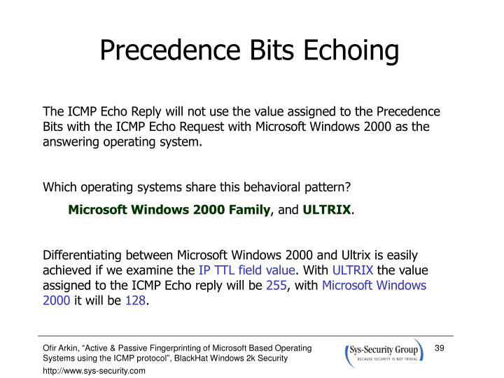 Precedence Bits Echoing