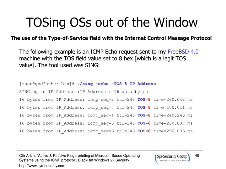 TOSing OSs out of the Window