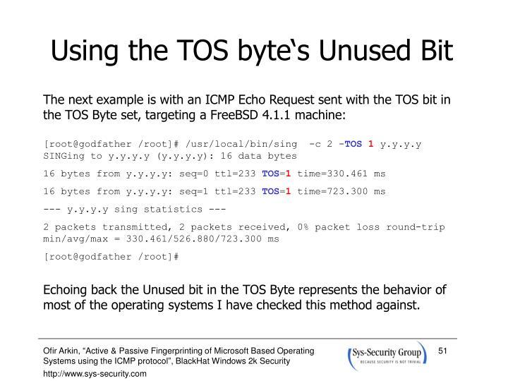 Using the TOS byte's Unused Bit