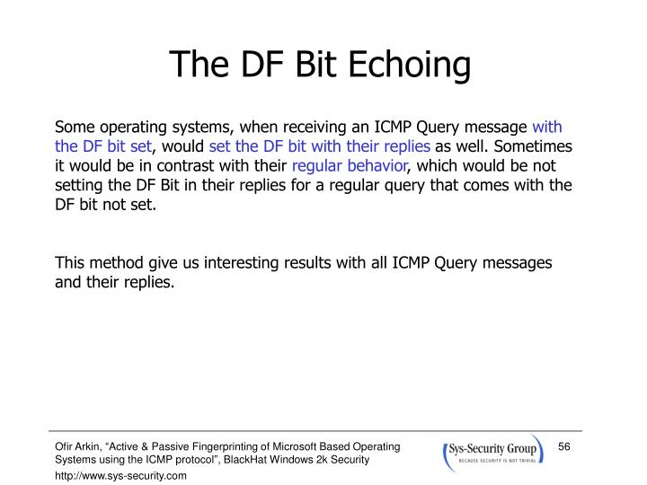 The DF Bit Echoing