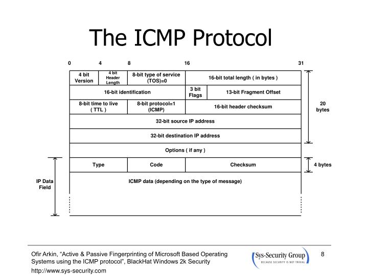 The ICMP Protocol