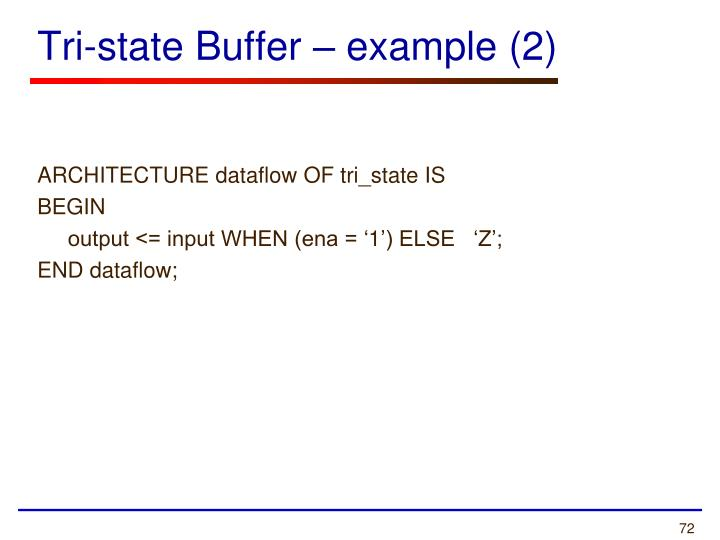 Tri-state Buffer – example (2)