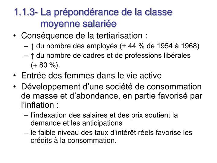 1.1.3- La prépondérance de la classe   moyenne salariée