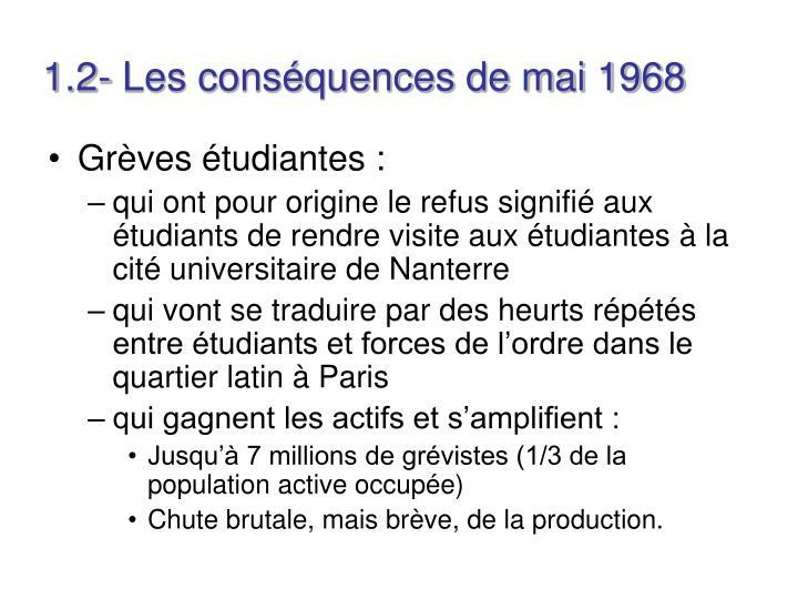 1.2- Les conséquences de mai 1968