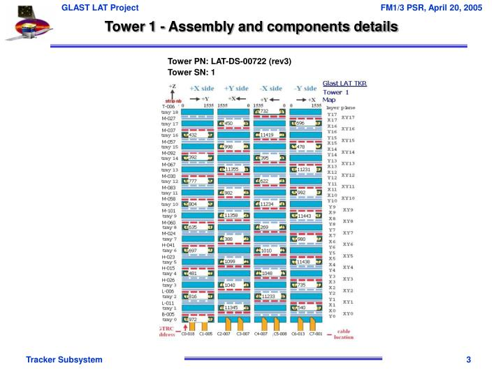 Tower 1 - Assembly and components details