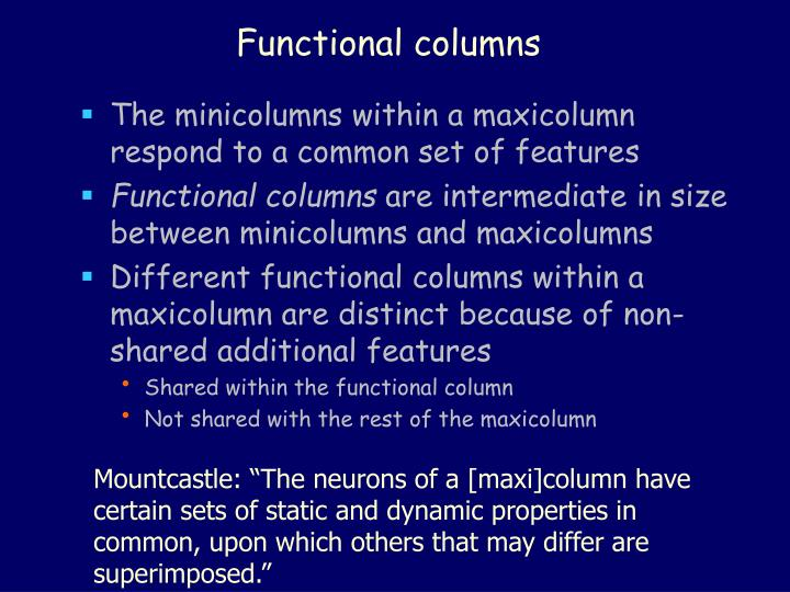 Functional columns